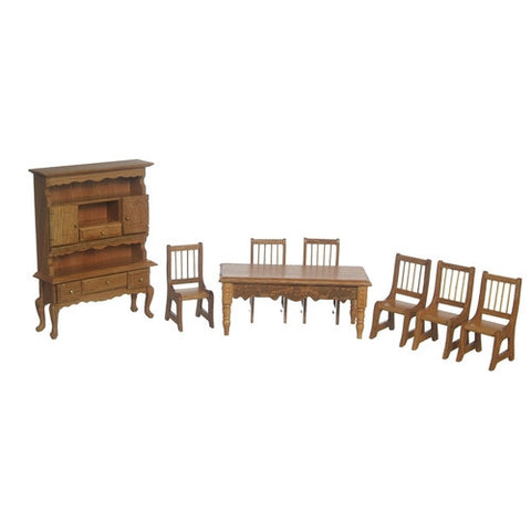Oak Dining Set of 8