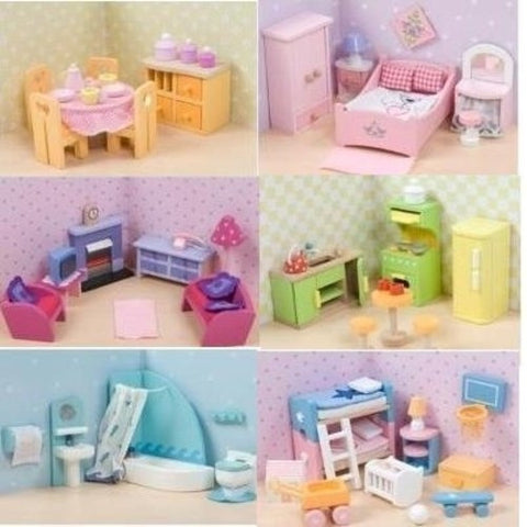 Le Toy Van Sugar Plum  Dollhouse Furniture Collection