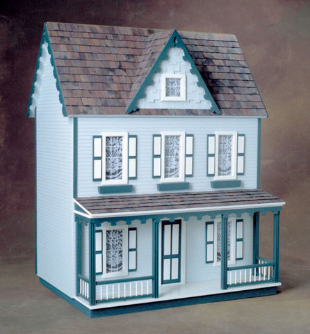 Front Opening Vermont Farmhouse Jr. Dollhouse Kit