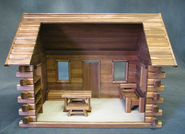 Crockett S Log Cabin Dollhouse Kit The Magical Dollhouse