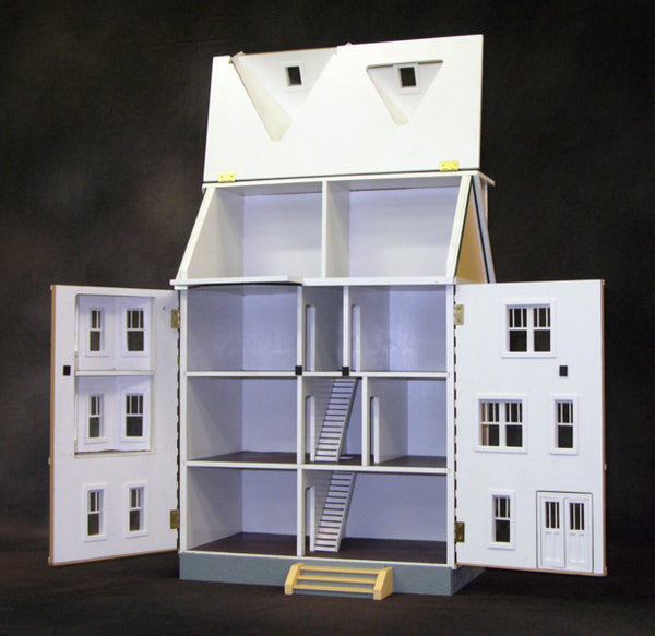 1 2 Scale Front Opening East Side Townhouse Dollhouse Kit