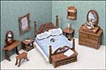 Dollhouse Bedroom Furniture Kit
