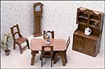 Dollhouse Dining Room Furniture Kit
