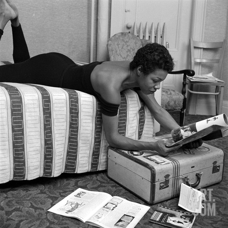 Maya Angelou before a Calypso performance at he Village Vanguard in New York City