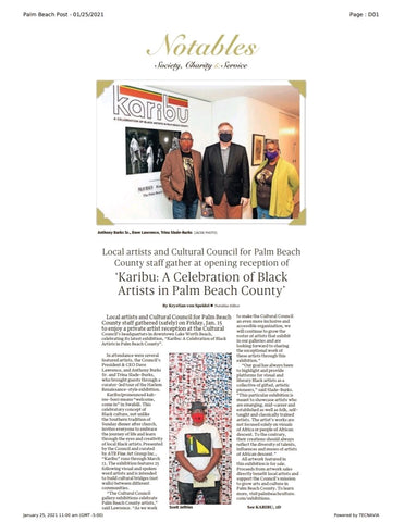 Karibu art exhibit at the Cultural Center for Palm Beach County