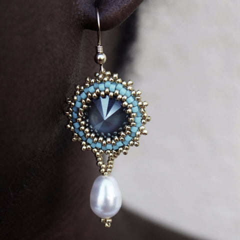 Marie Antoinette Handcrafted Pearl Drop Earrings