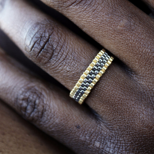 Silver & Gold Stackable Ring