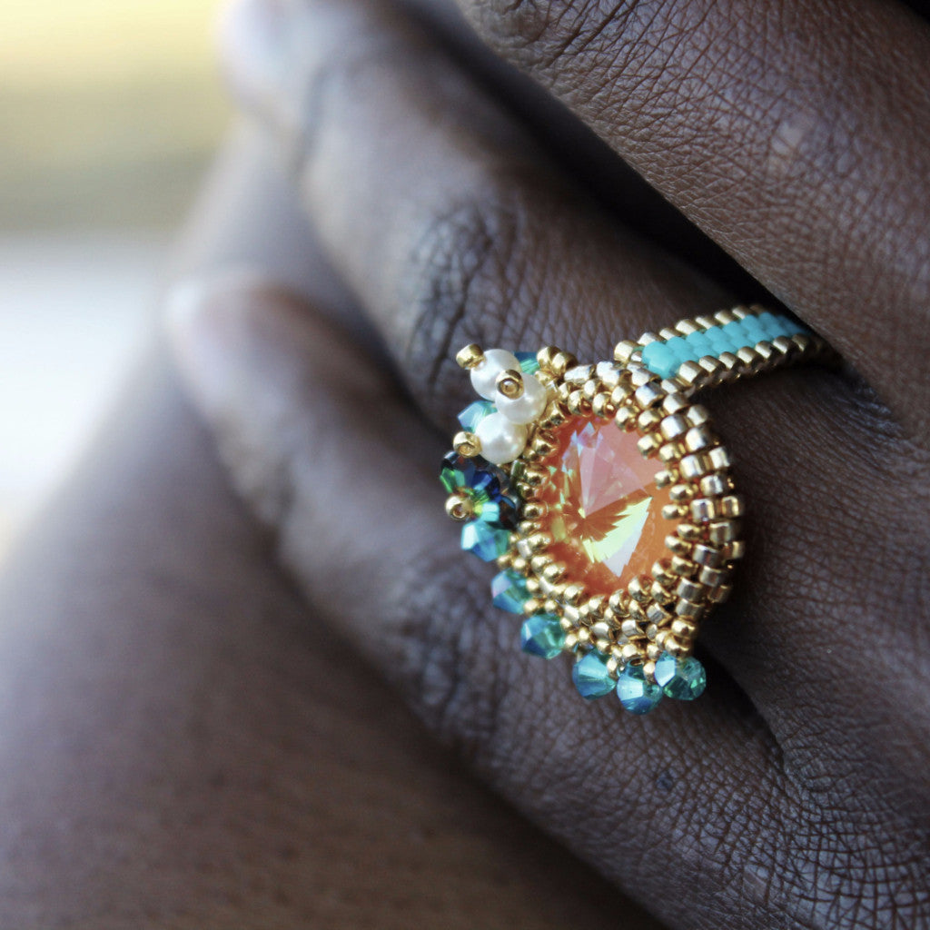 designers grace product beaded lee rings trapezoid in zoom ring at gold