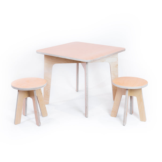 Ensemble de table de jeu et tabourets - Bois Concept SC | Woodworking and furniture