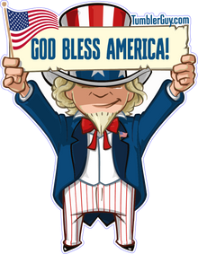 God bless america die cut