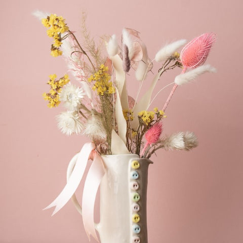 jug and dried flowers gift