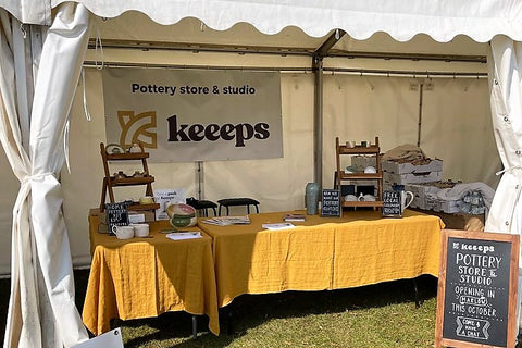 pottery stand at uk festival