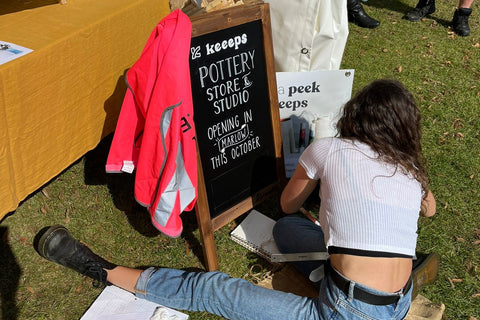 sign writer pub in the park pottery brand