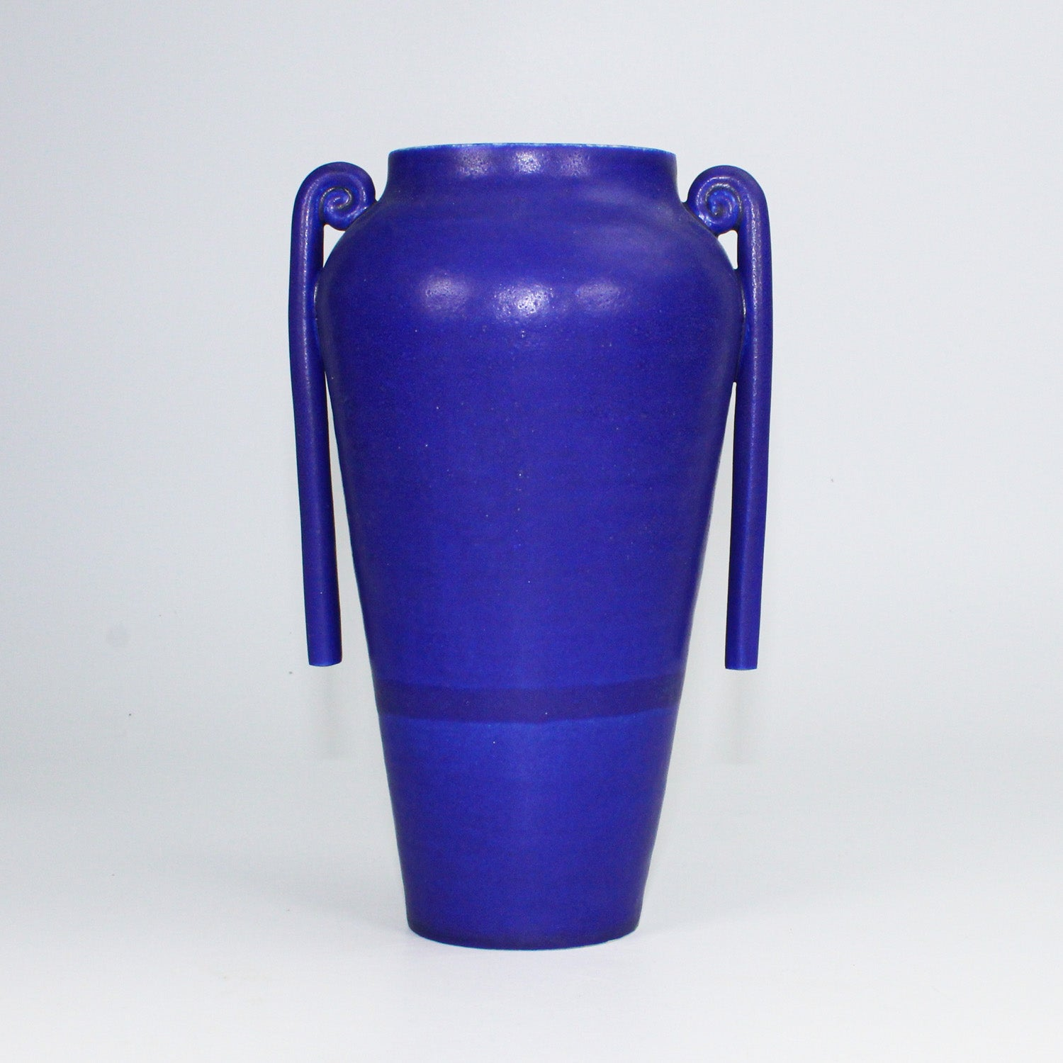 Ceramic cobalt blue Greek vase