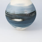 Load image into Gallery viewer, Close up of blue and white porcelain spherical vase