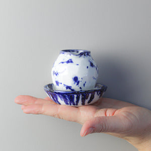 Mini porcelain pitcher and bowl