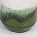 Load image into Gallery viewer, Bottom of large stoneware vase. Green glazing detail.