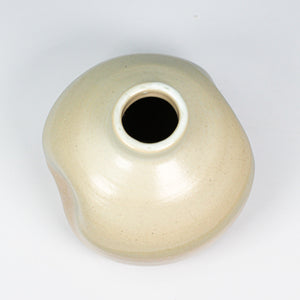 Aerial view of small ceramic wasi sabi vase