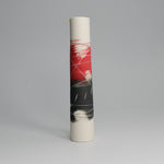 Load image into Gallery viewer, Pottery red, white and black single stem vase