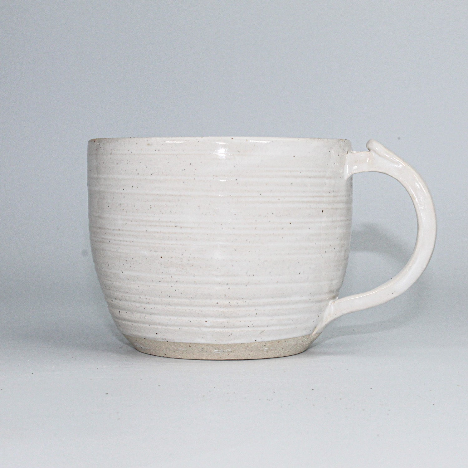 Single ceramic off white cup