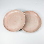 Load image into Gallery viewer, Pair of pink speckled ceramic side plates