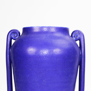 Close up of top of cobalt blue Greek vase