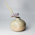 Load image into Gallery viewer, Small ceramic wasi sabi vase with small flowers in