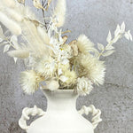 Load image into Gallery viewer, Porcelain twisted vase with dried flowers