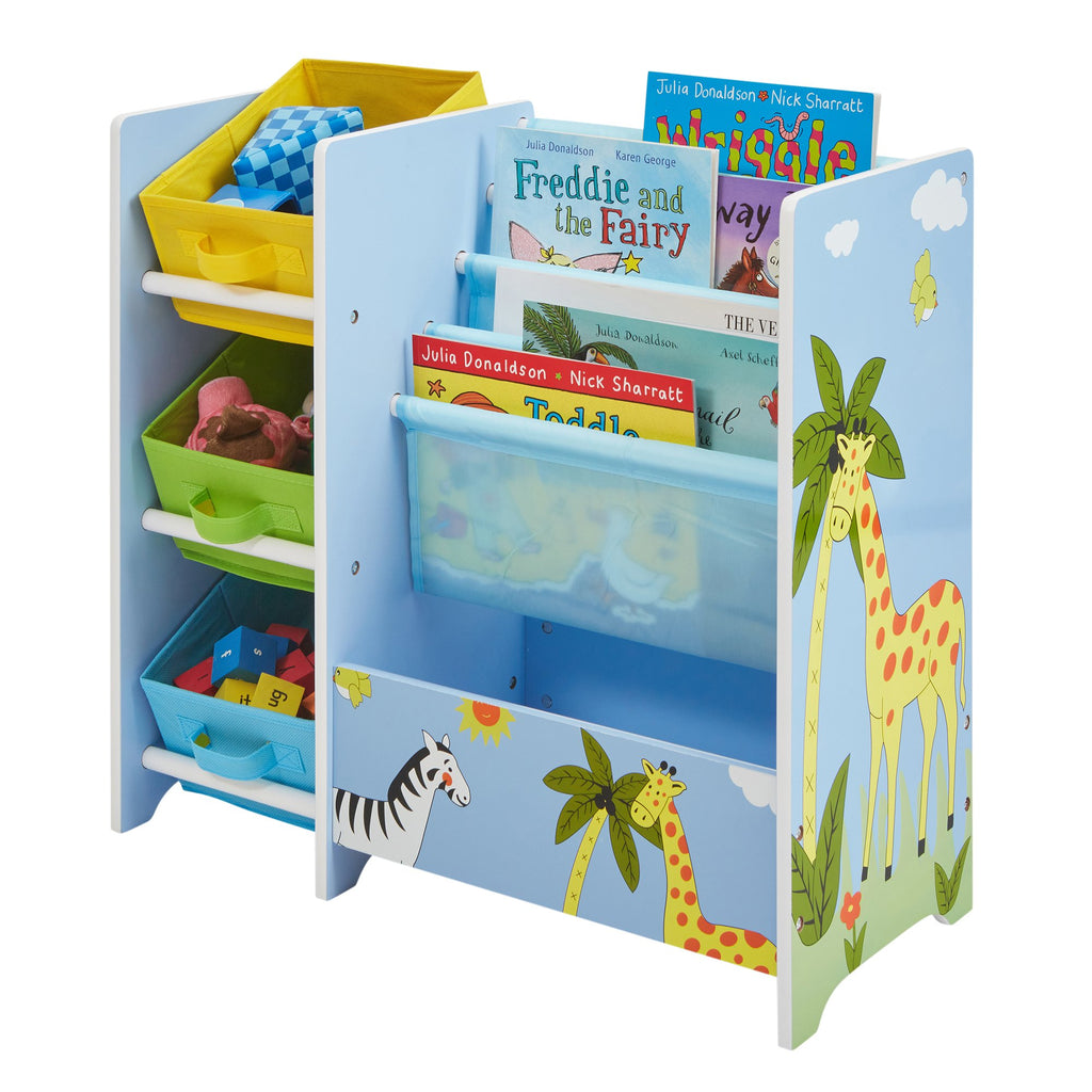 TF5007-safari-book-display-with-fabric-bins-acessories-2
