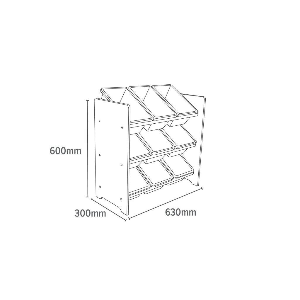 TF5003-9-bin-safari-storage-organiser-dimensions