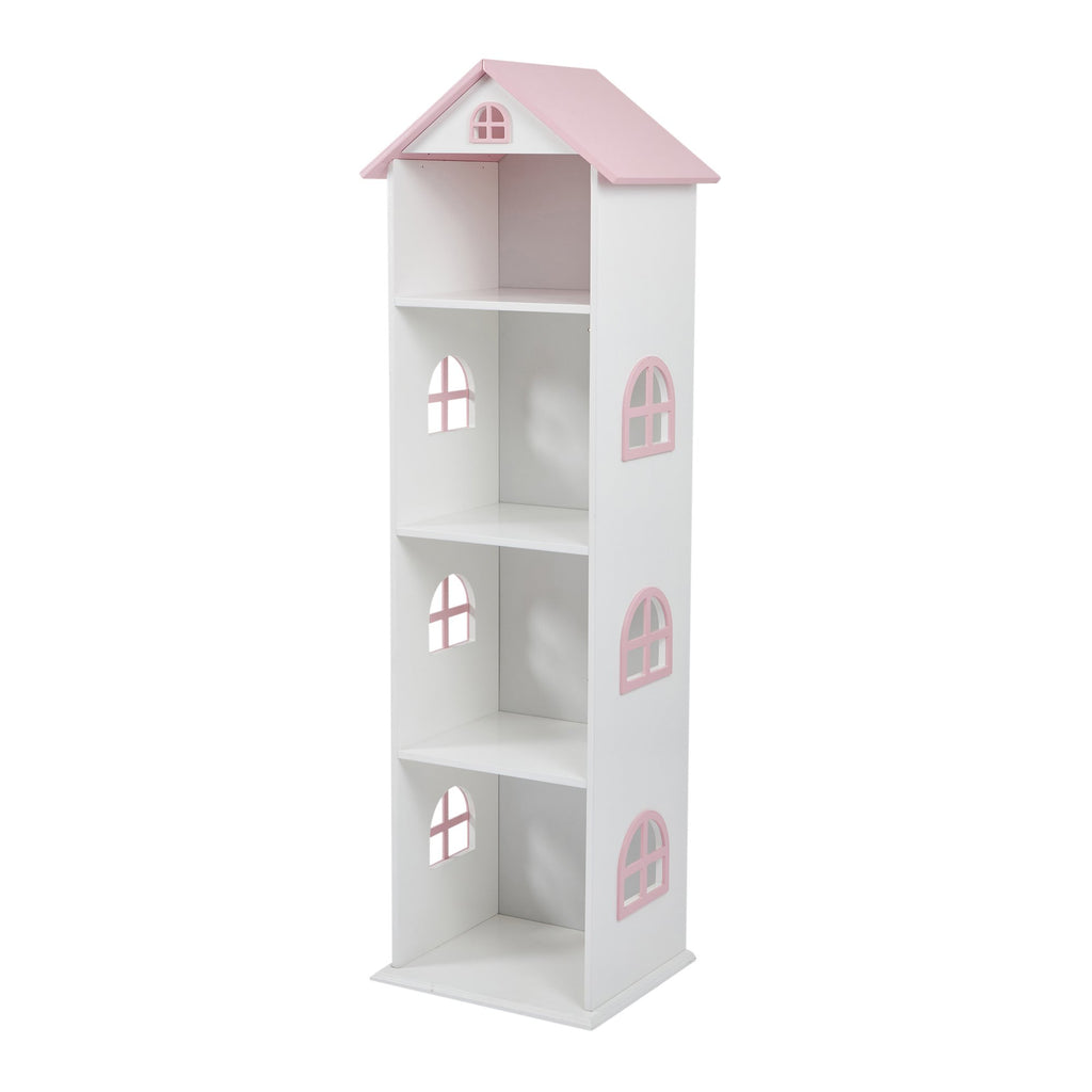 TY2008-white-tall-doll-house-bookcase-with-pink-roof