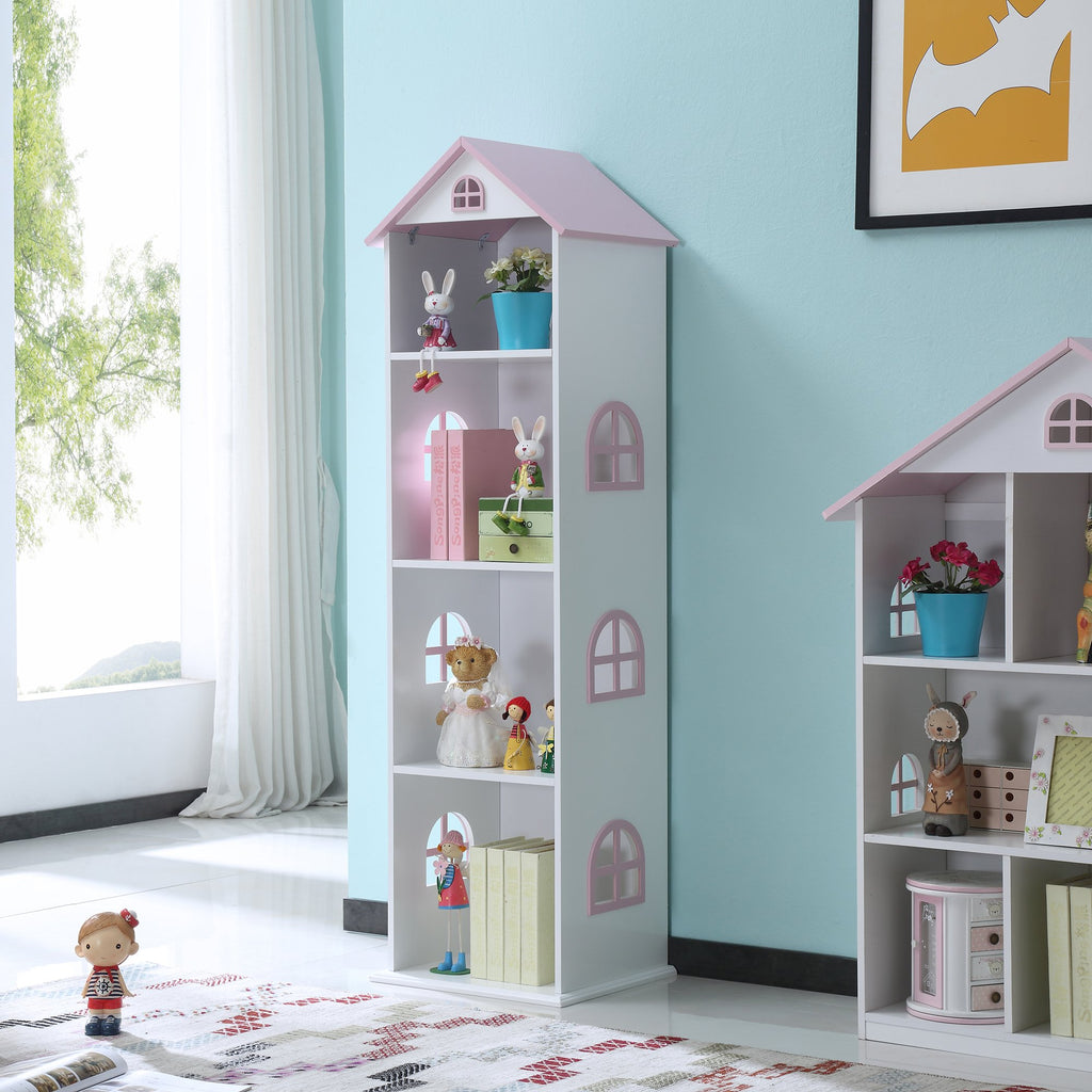TY2008-white-tall-doll-house-bookcase-with-pink-roof-lifestyle-1