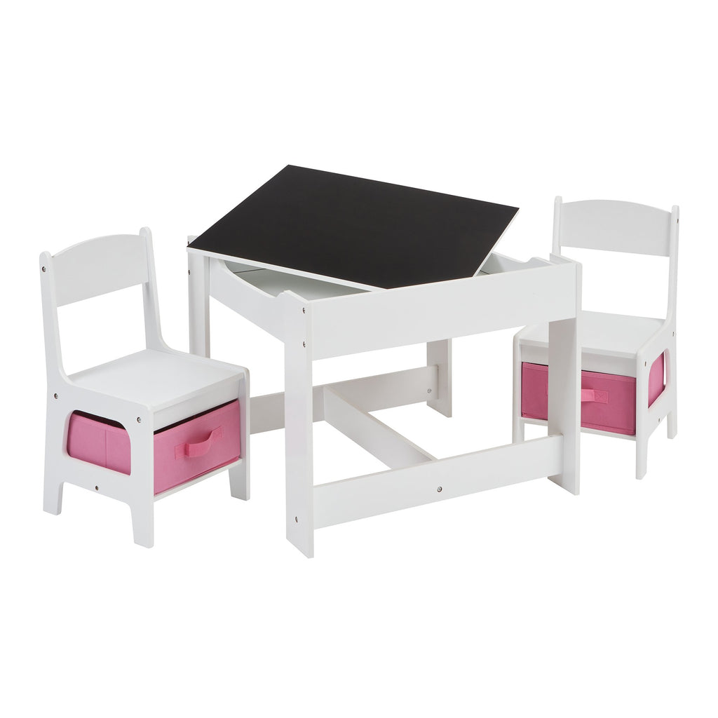 TF5412-W-white-table-and-2-chairs-with-pink-bins-chalkboard-open-table