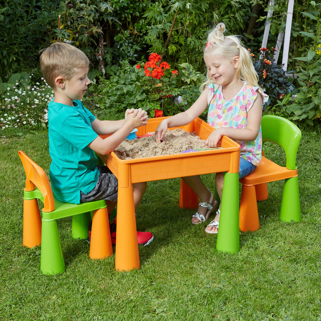 899g-green-and-orange-table-and-2-chairs-outdoor-sand-play-children_2