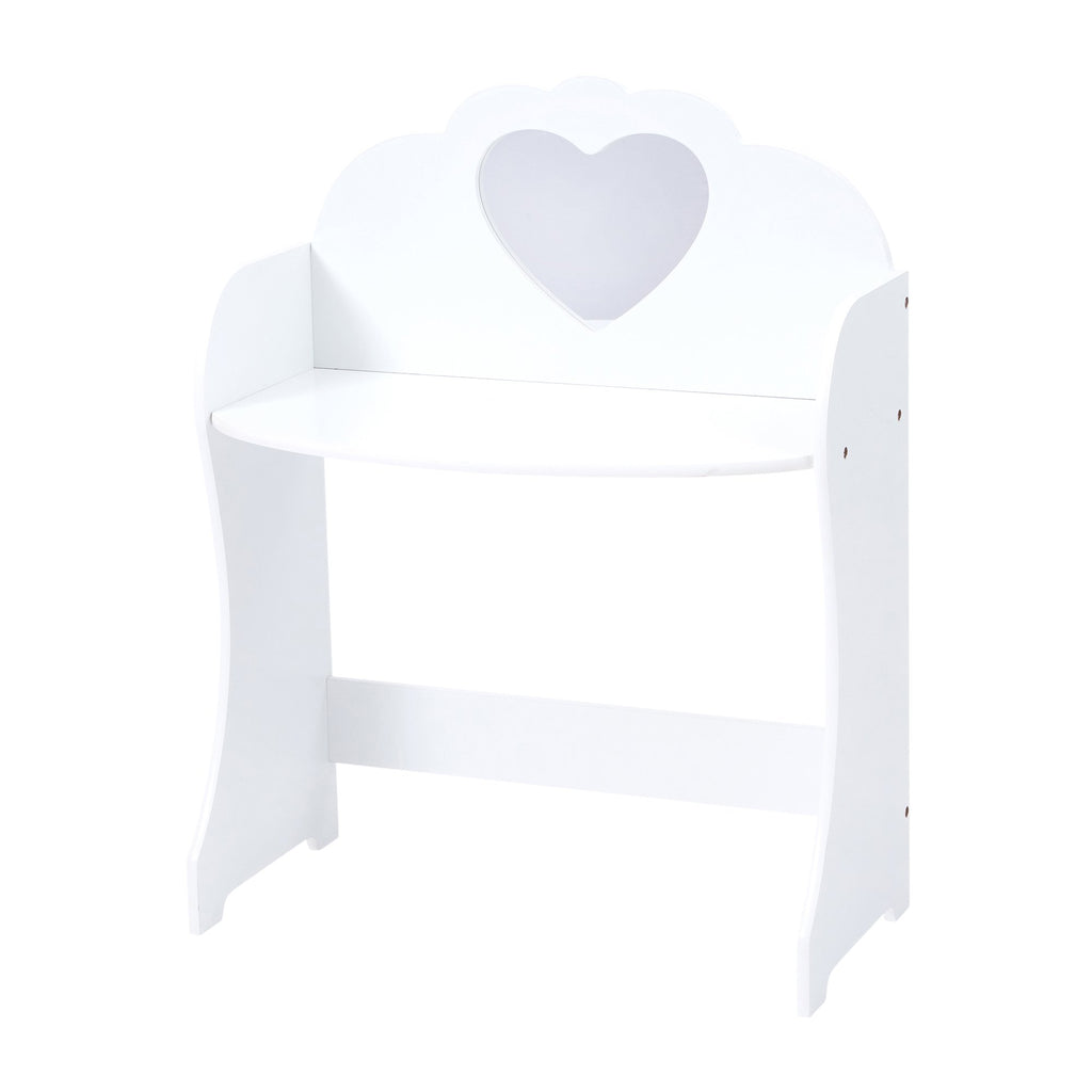 TF5301-white-dressing-table-with-heart-shaped-mirror-table