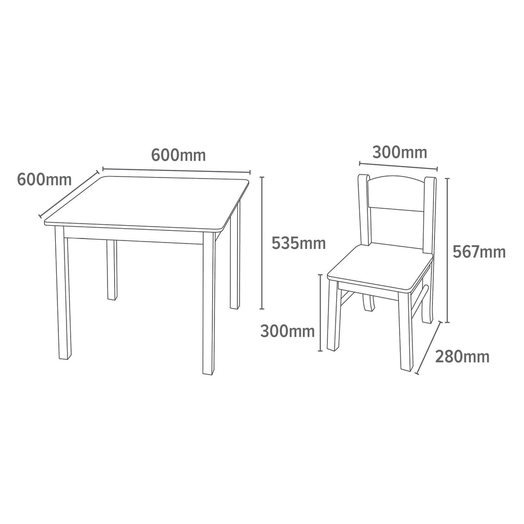 TF5303-white-square-wooden-table-and-2-chairs-dimensions