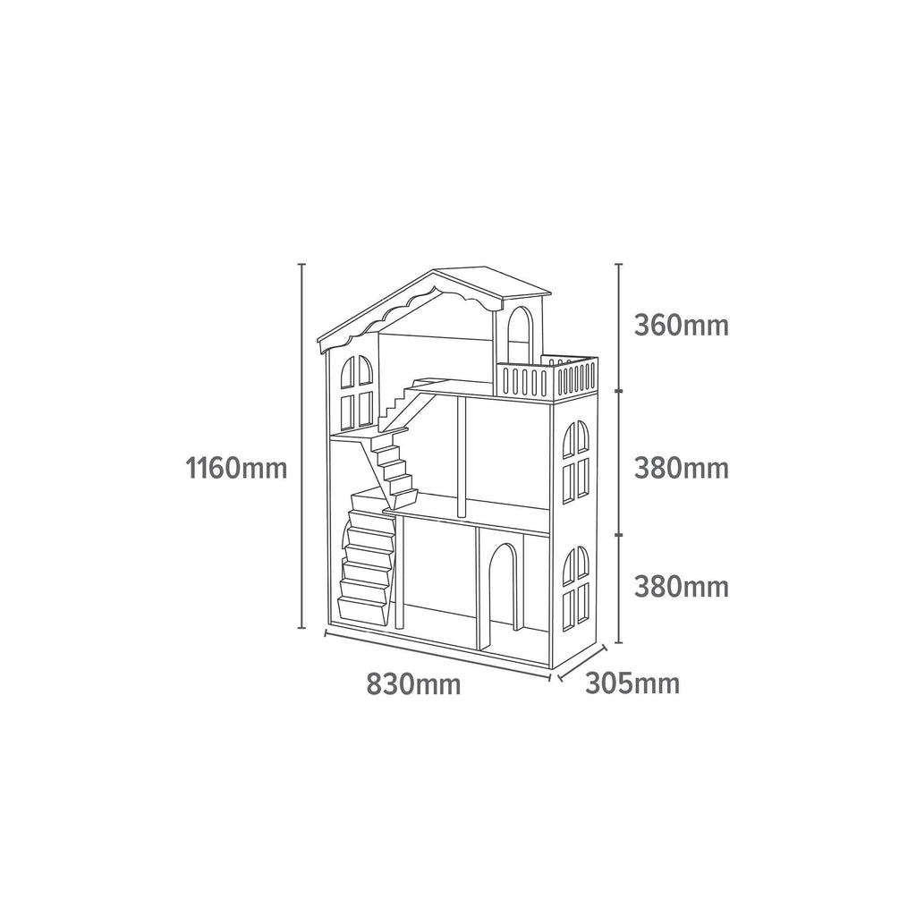 LHT10091-white-dolls-house-bookcase-with-balcony-dimensions