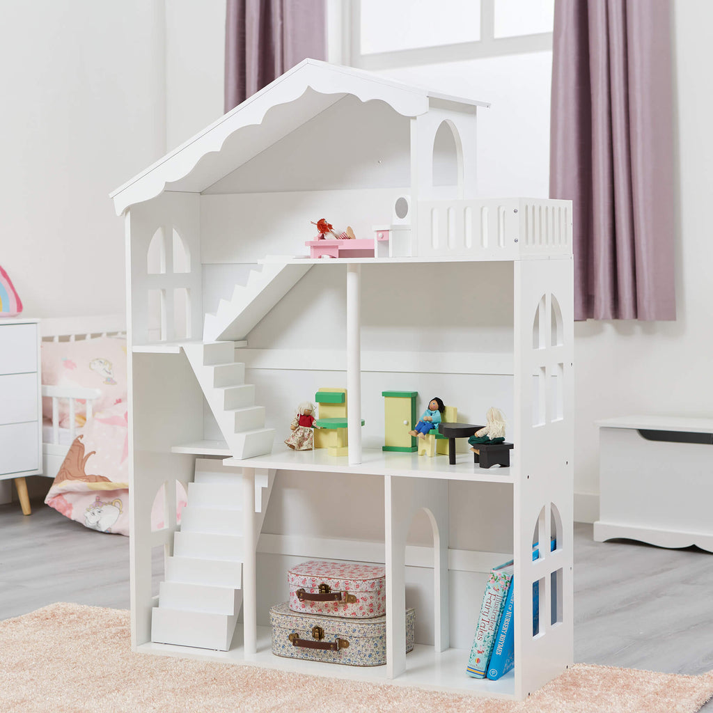 LHT10091-white-dolls-house-bookcase-with-balcony-lifestyle
