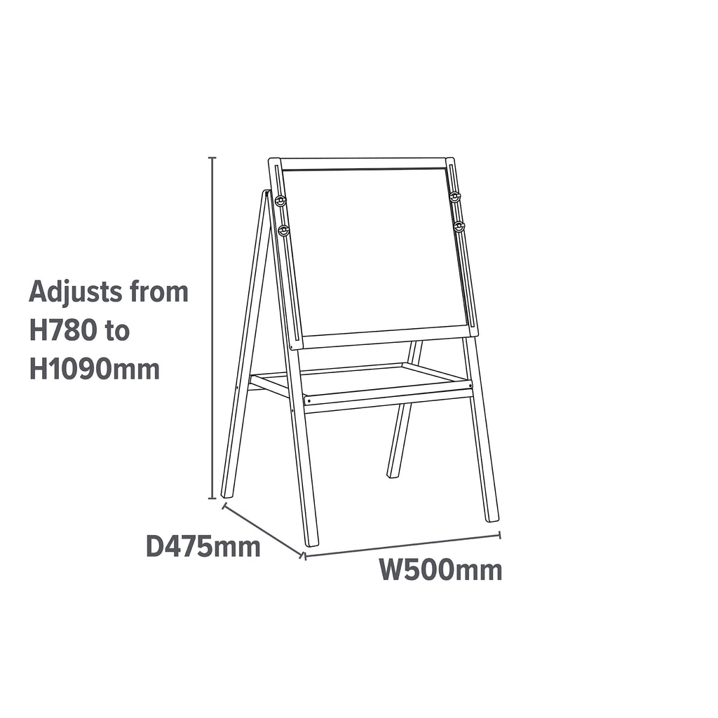 LHTMS1-height-adjustable-easel-dimensions