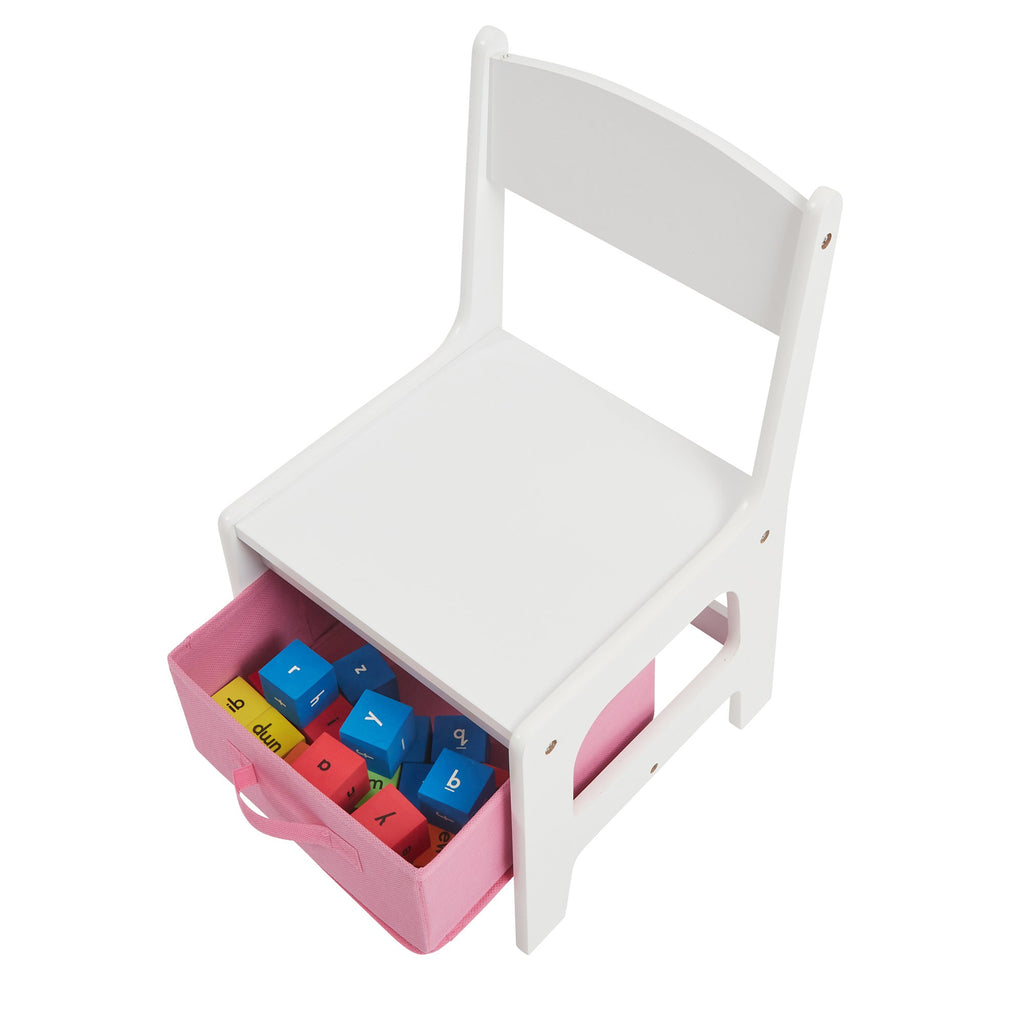 TF5412-W-white-table-and-chair-pink-storage-drawer-open