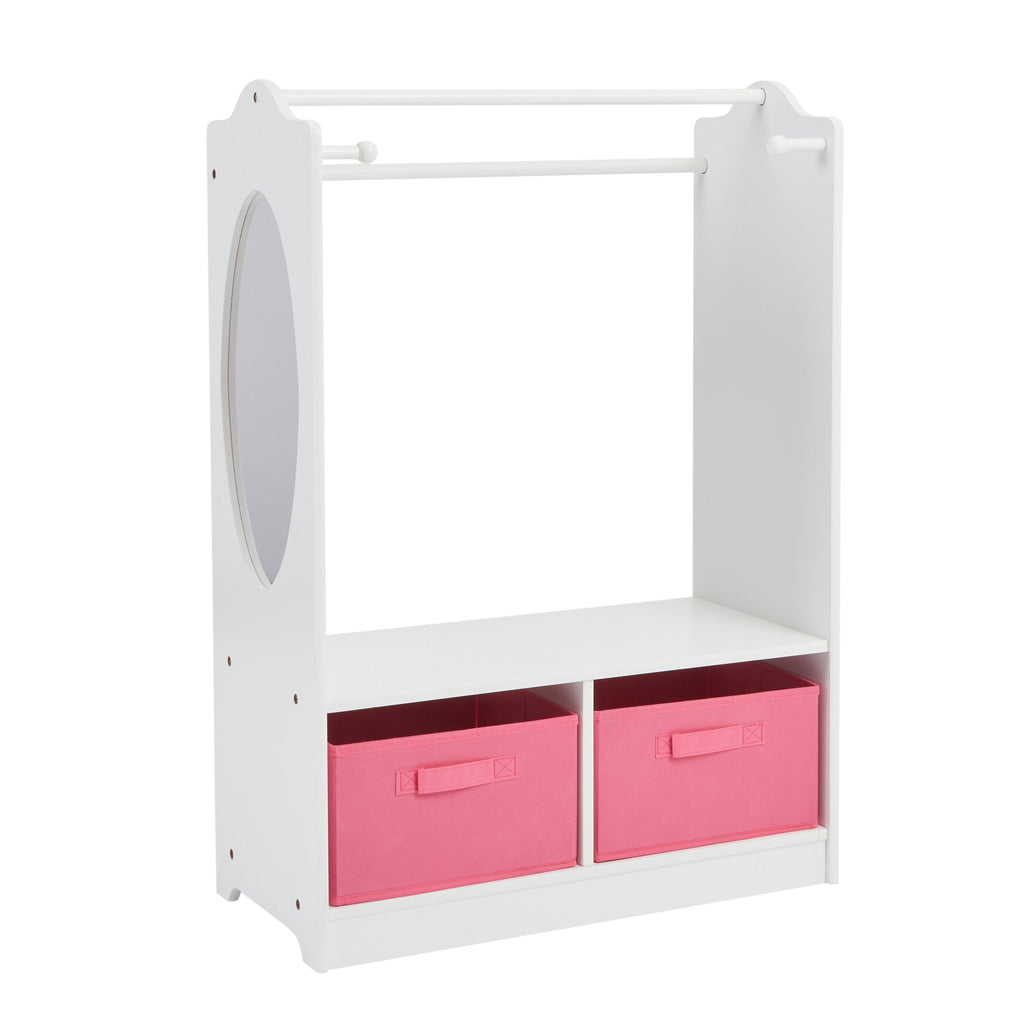 TF4917-white-wooden-dress-up-unit-with-pink-bins