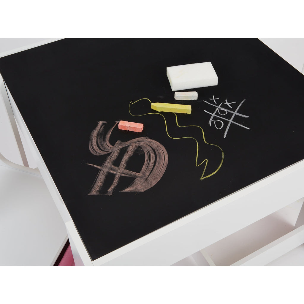 TF5412-W-white-table-and-2-chairs-with-pink-bins-chalkboard-close-up