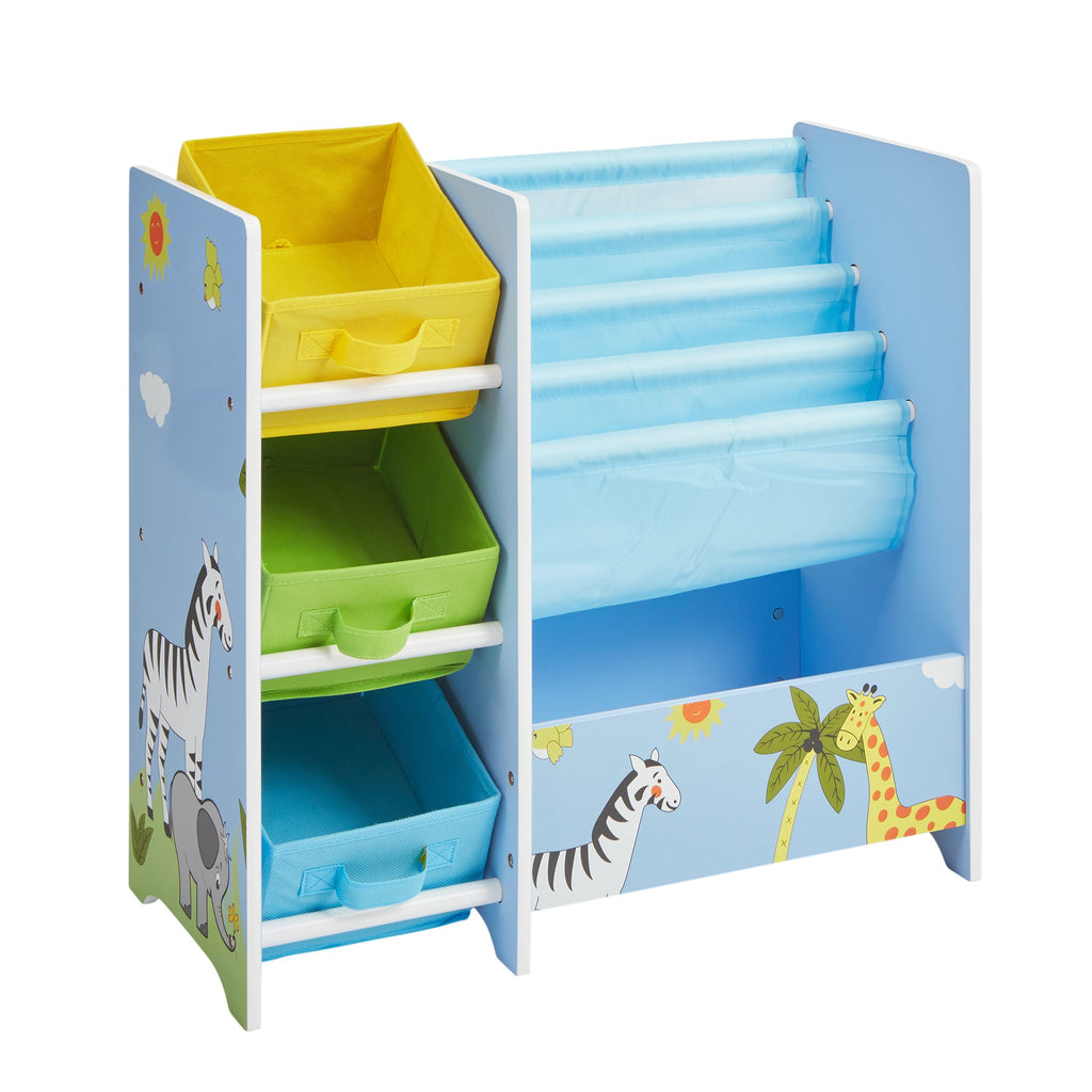TF5007-safari-book-display-with-fabric-bins-1
