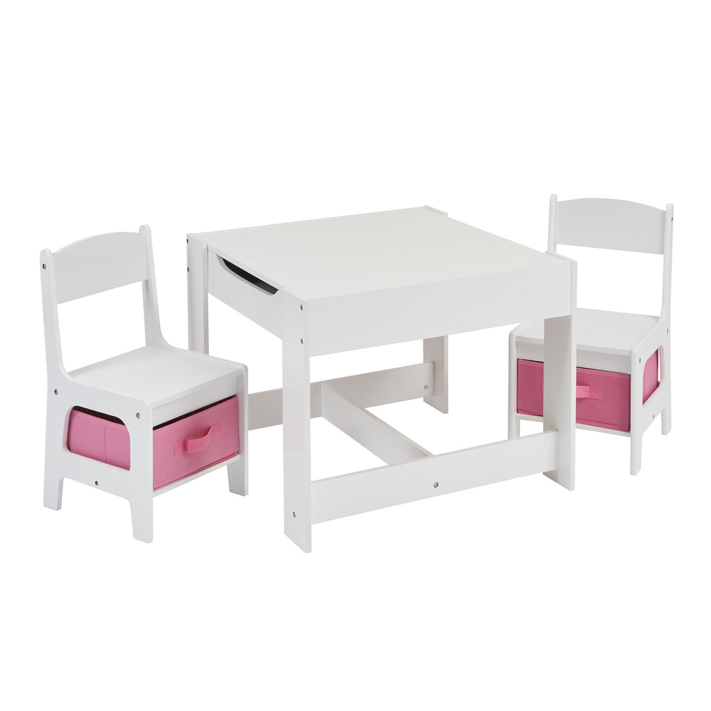 TF5412-W-white-table-and-2-chairs-with-pink-bins