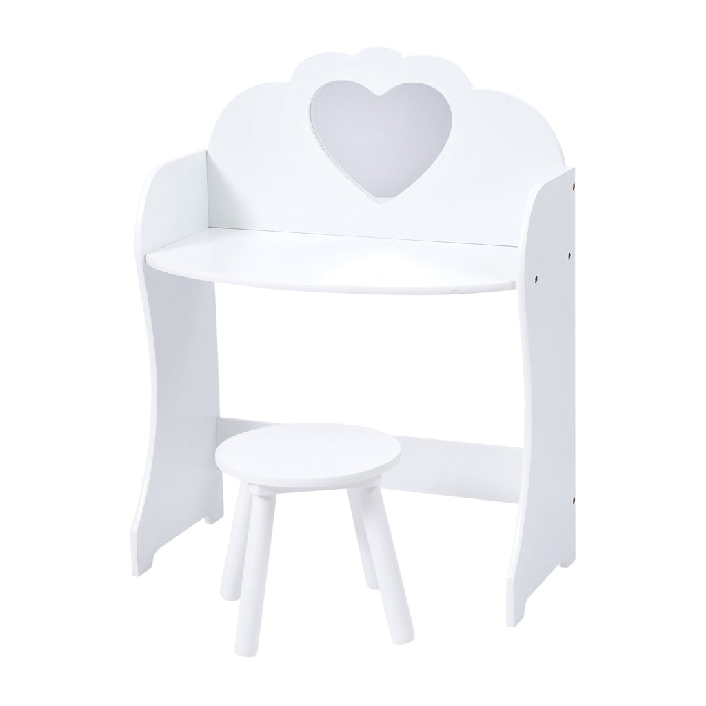 TF5301-white-dressing-table-with-heart-shaped-mirror