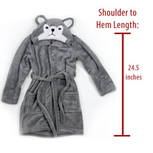Load image into Gallery viewer, CozyRobe Hooded Fleece Toddler Robe