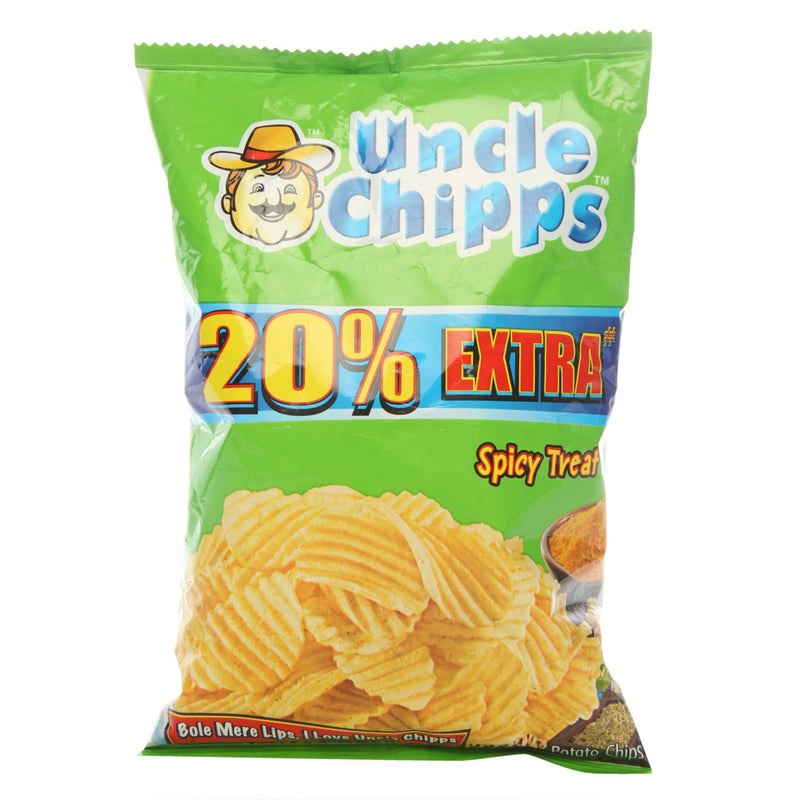 Uncle Chipps - Chips - Spicy Treat - Spicy and Potato, 55-Gm, 1-Pack