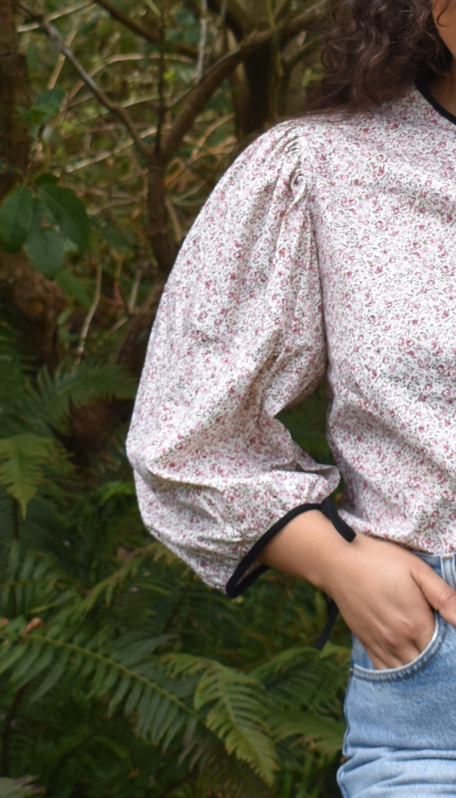 Maxine Blouse in Pink Floral