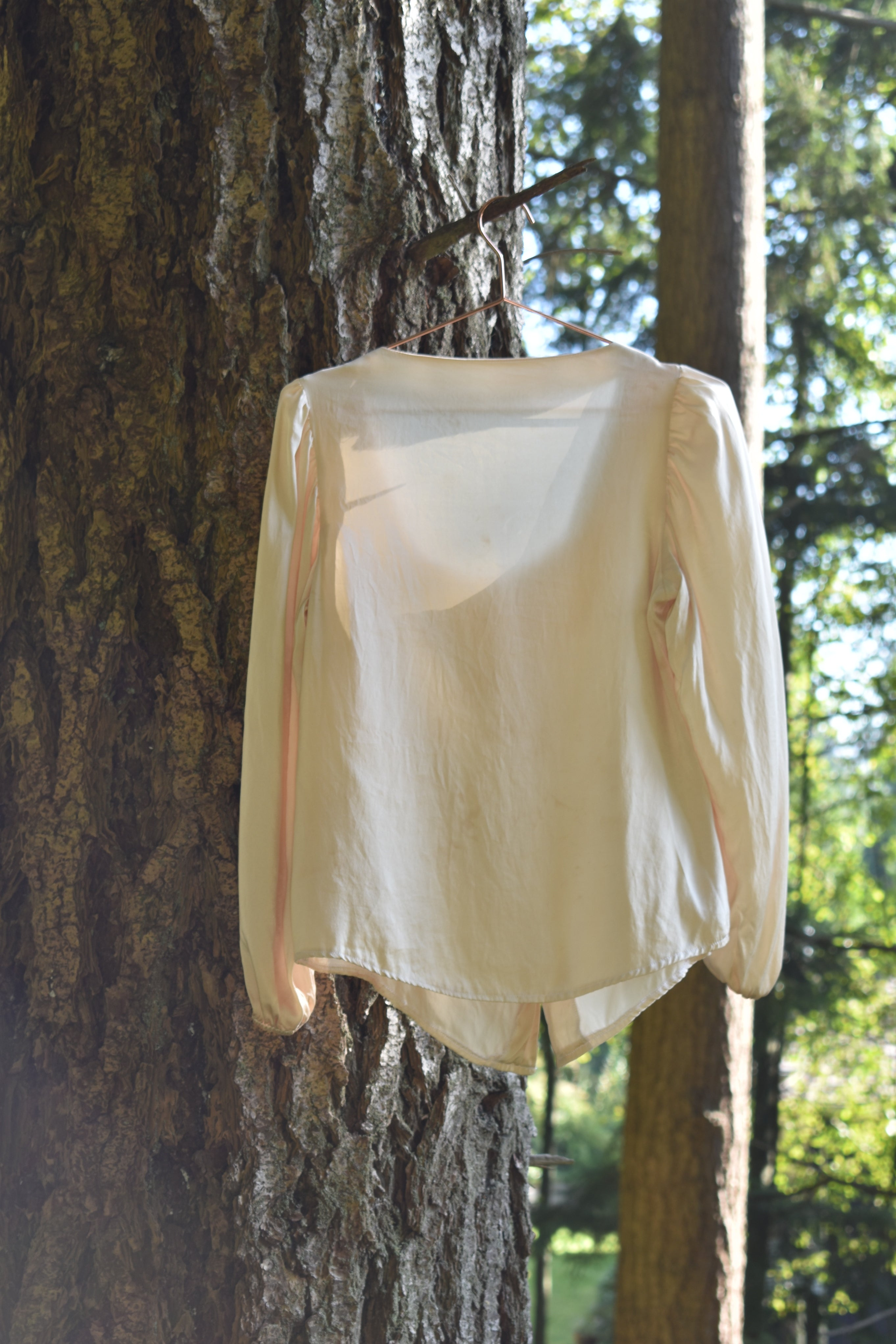 Megan Blouse in Champagne Silk
