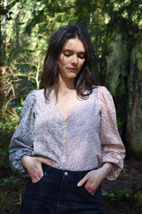 Victoria Blouse in Spring Mix